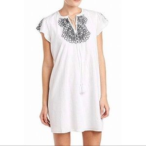 Susana Monaco Stefani Dress White Embroidered